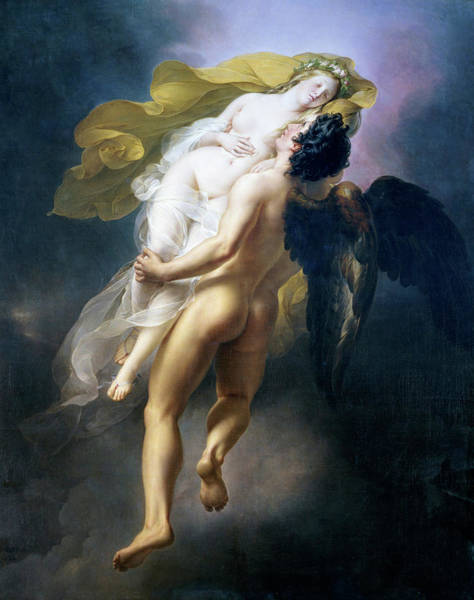 Up North Painting - Boreas Abducting Oreithyia by Joseph-Ferdinand Lancrenon