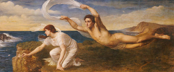 Wall Art - Painting - Boreas And Orithyia by Oswald von Glehn