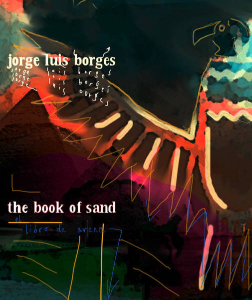 Painting - Borges Book Of Sand Poster  by Paul Sutcliffe