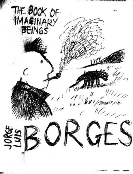 Drawing - Borges Imaginary Beings  by Paul Sutcliffe