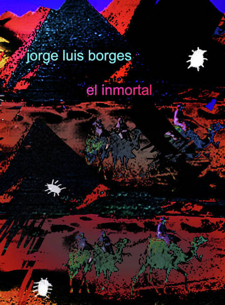 Mixed Media - Borges The Immortal Poster  by Paul Sutcliffe