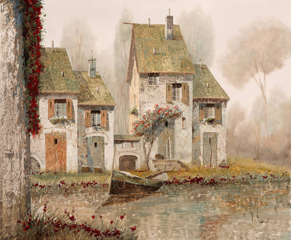 Foggy Wall Art - Painting - Borgo Nebbioso by Guido Borelli