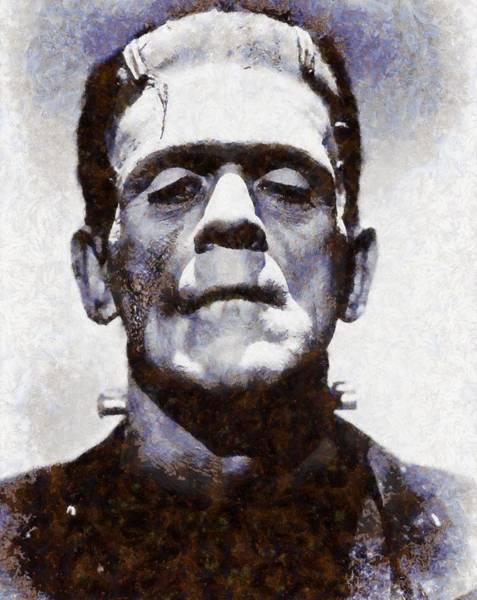 Frankenstein Painting - Boris Karloff As Frankenstein by Esoterica Art Agency