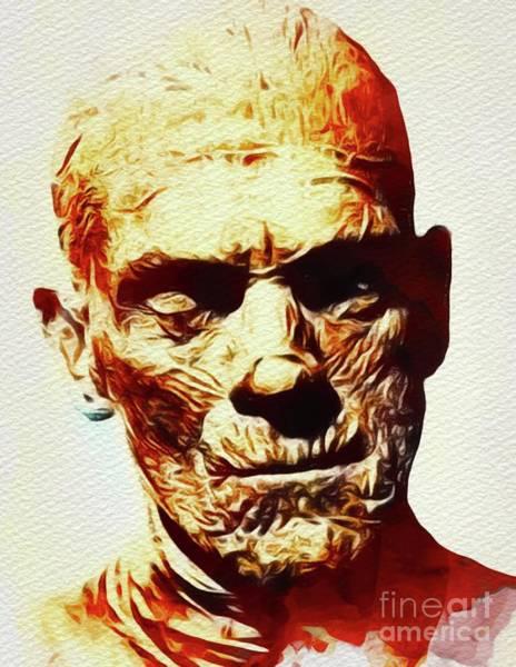 Horror Film Painting - Boris Karloff As The Mummy by John Springfield