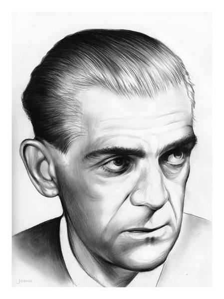 Drawing - Boris Karloff by Greg Joens