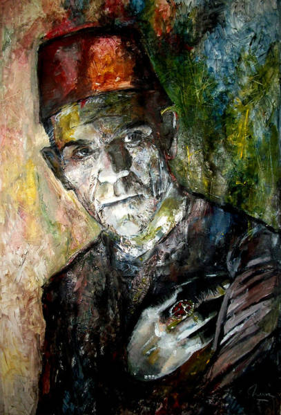 Frankenstein Painting - Boris Karloff - Imhotep - The Mummy by Marcelo Neira