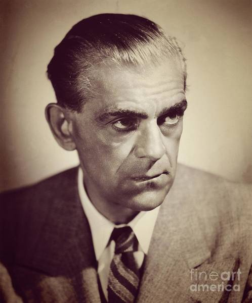Boris Karloff Photograph - Boris Karloff, Vintage Movie Star by Esoterica Art Agency