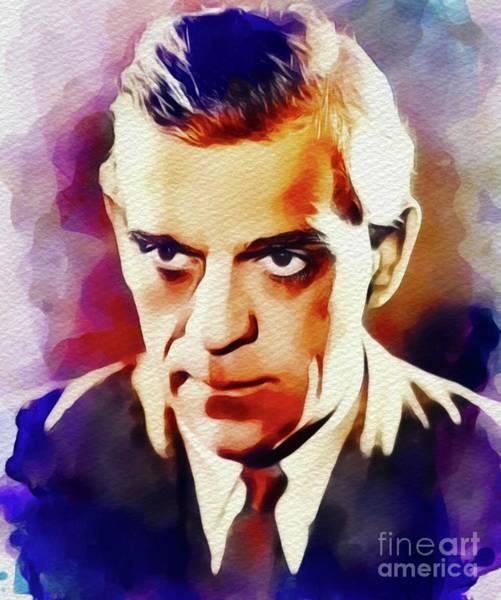 Horror Film Painting - Boris Karloff, Vintage Movie Star by John Springfield