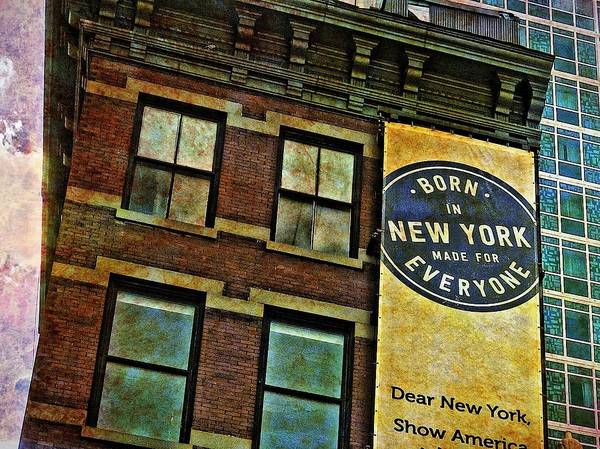 Photograph - Born In New York by Joan Reese