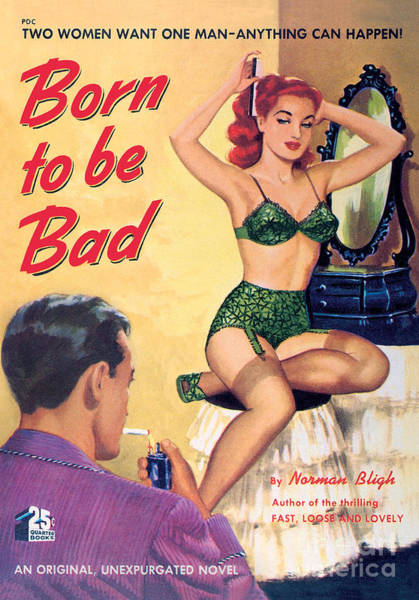 Painting - Born To Be Bad by George Gross