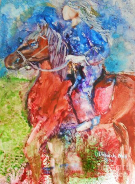 Painting - Born To Ride by Deborah Nell