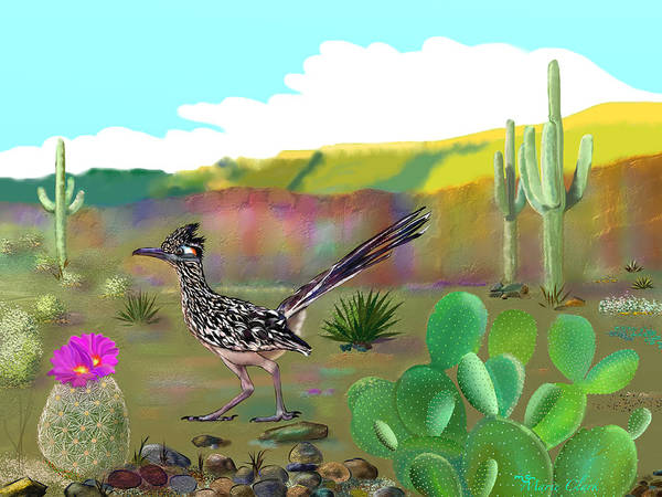 Roadrunner Painting - Born To Run by Marie Clark