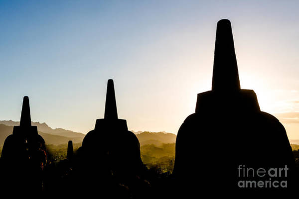 Photograph - Borobudur Temple In Java by Didier Marti