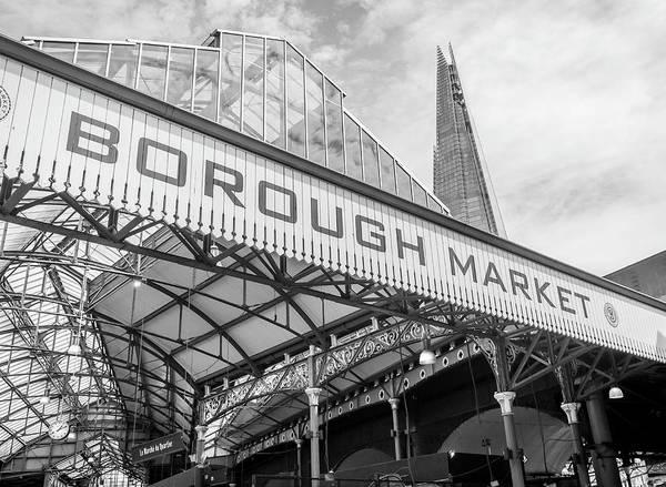 Capital Of Georgia Photograph - Borough Market London In Mono by Georgia Fowler