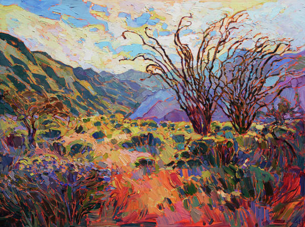 Wall Art - Painting - Borrego In Bloom by Erin Hanson