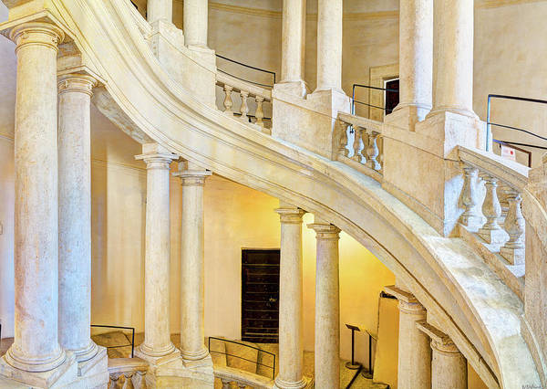 Photograph - Borromini Staircase 4 by Weston Westmoreland