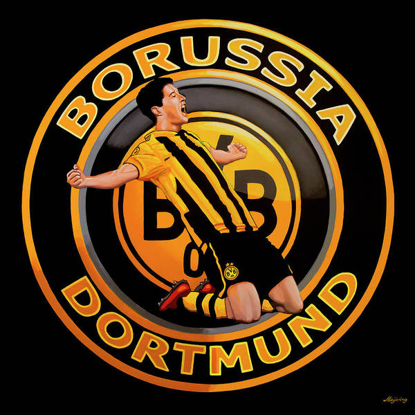 Arena Wall Art - Painting - Borussia Dortmund Painting by Paul Meijering