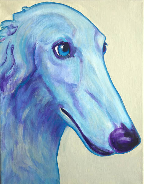 Wall Art - Painting - Borzoi - Baby Blue by Alicia VanNoy Call