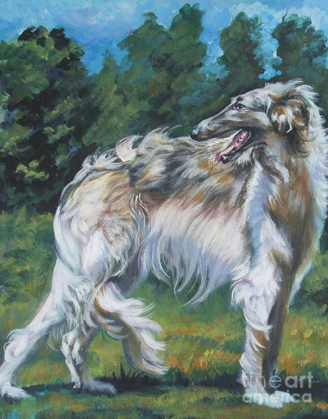 Sighthound Wall Art - Painting - Borzoi by Lee Ann Shepard
