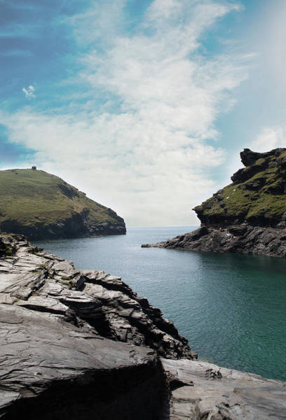 Inlet Photograph - Boscastle Cornwall by Rebecca Cozart