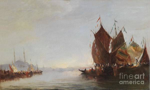 Fausto Zonaro Painting - Bosphorous Constantinople by Celestial Images