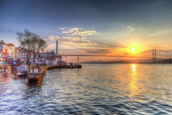 Wall Art - Photograph -  Bosphorus Sunset Istanbul by David Pyatt