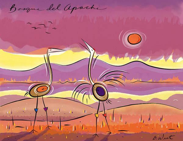 Petroglyphs Digital Art - Bosque Del Apache - 2 by William West