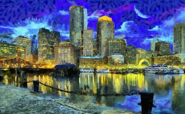 Digital Art - Boston 1 by Caito Junqueira