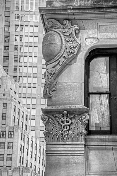 Photograph - Boston Achitectural Detail Boston Ma Medical Black And White by Toby McGuire
