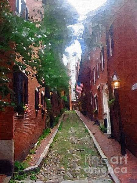 Photograph - Boston Ally Way by Donna Bentley