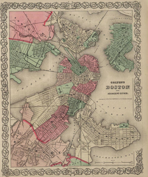 Wall Art - Painting - Boston And Adjacent Cities by Colton