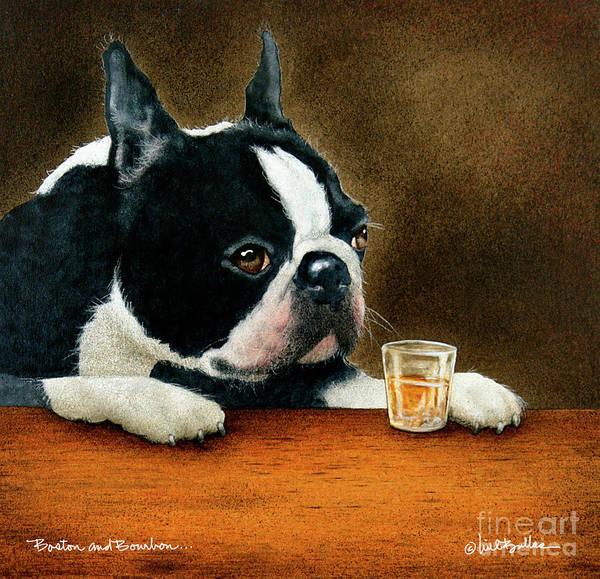 Massachusetts Painting - Boston And Bourbon... by Will Bullas