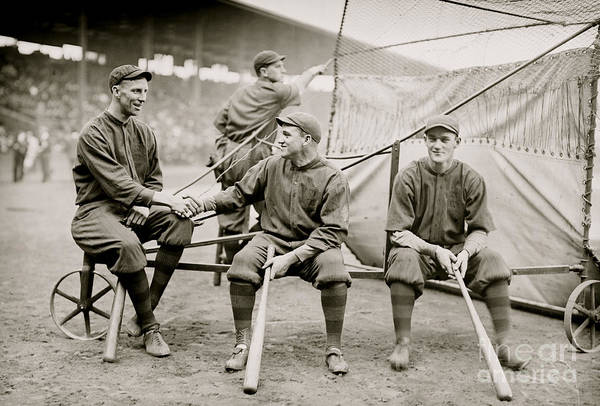 Bat Man Photograph - Boston Baseball Players   Gowdy, Tyler, Connolly by American School