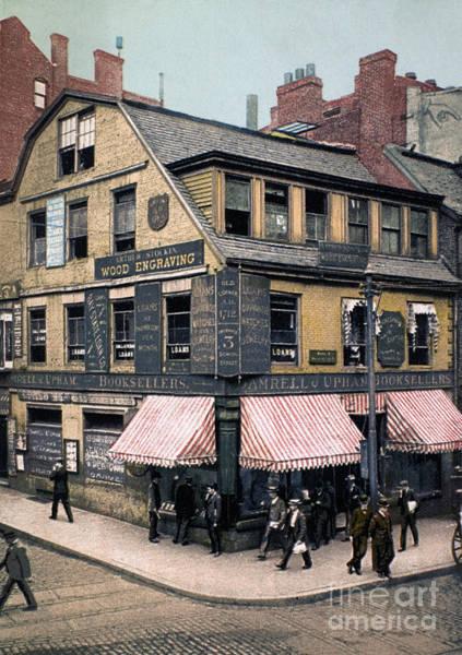 Photograph - Boston: Bookshop, 1900 by Granger