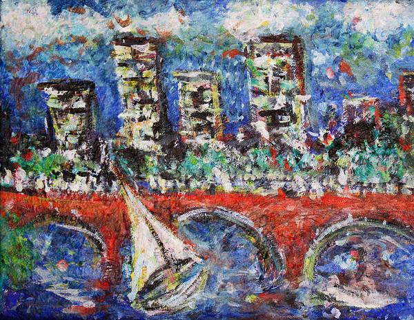 Wall Art - Painting - Boston Bridge by Jason Gluskin
