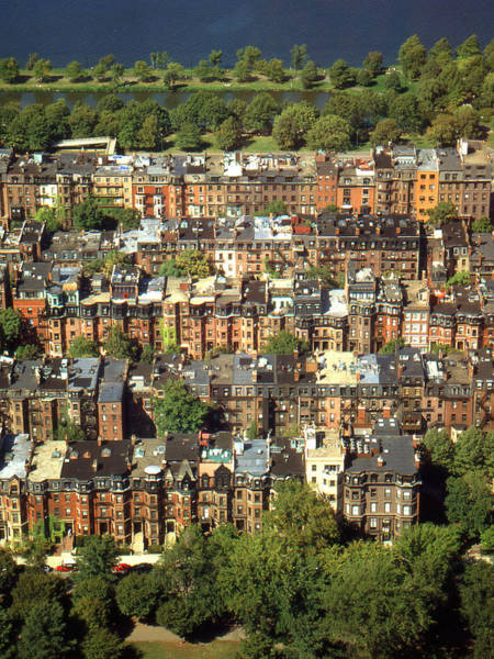 Photograph - Boston Brownstone Architecture by Peter Potter
