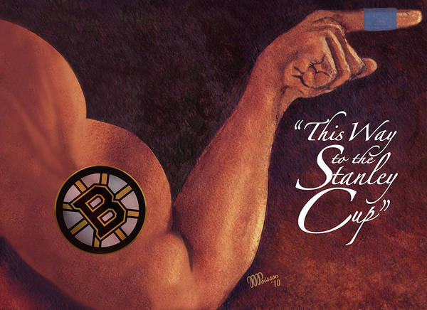 Memphis Grizzlies Painting - Boston Bruins - This Way To The Stanley Cup by Jean-Marie Poisson