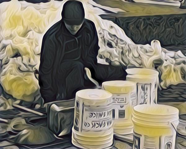 Boston Bucket Man Art Print