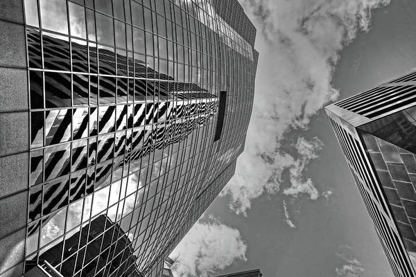 Photograph - Boston Building Reflection Boston Ma Black And White by Toby McGuire