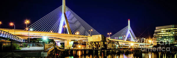 Wall Art - Photograph - Boston Bunker Hill Zakim Bridge Panorama Photo by Paul Velgos