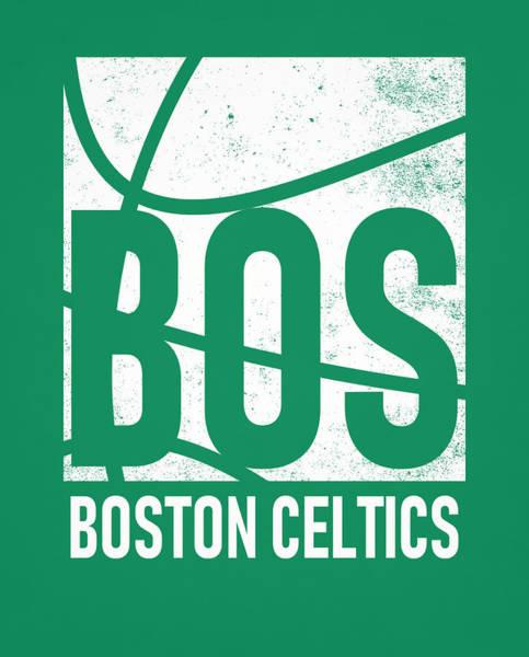 Wall Art - Mixed Media - Boston Celtics City Poster Art by Joe Hamilton
