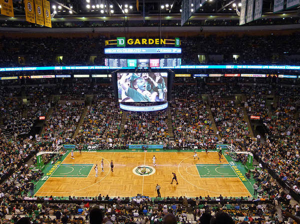 Court Photograph - Boston Celtics by Juergen Roth