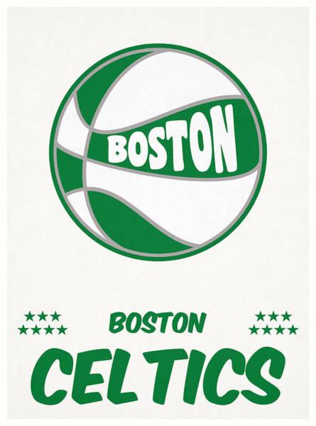 Celtic Mixed Media - Boston Celtics Vintage Basketball Art by Joe Hamilton