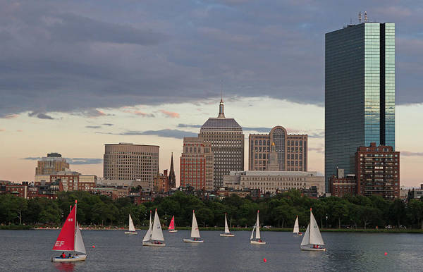 Photograph - Boston Charles River Sailboats by Juergen Roth