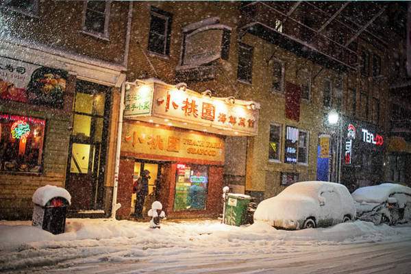 Photograph - Boston Chinatown Snowstorm Tyler St by Toby McGuire