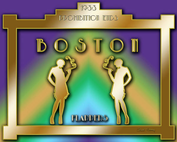 Digital Art - Boston Prohibition by Chuck Staley