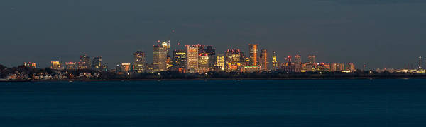 Photograph - Boston City Lights Panorama by Brian MacLean