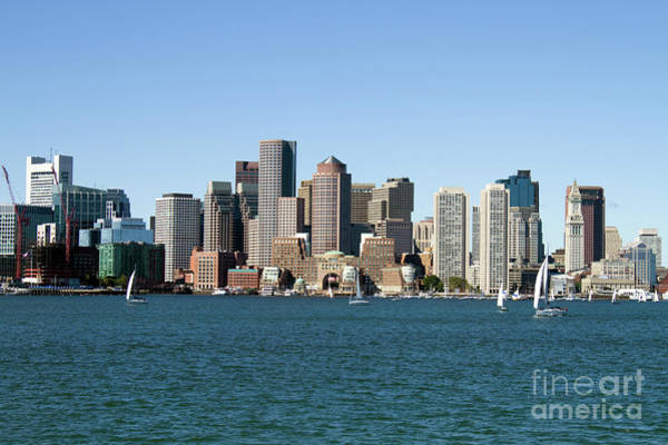 Boston City Skyline Art Print