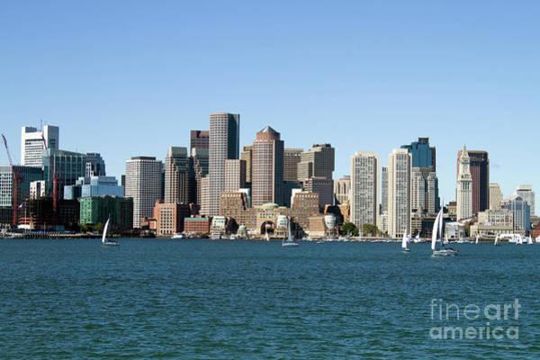 Photograph - Boston City Skyline by Steven Frame