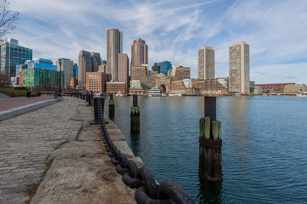 Boston Cityscape From The Seaport District 3 Art Print